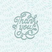 Thank you card with floral motifs. — Stock Vector