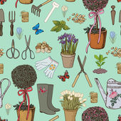 Hand drawing garden pattern — Wektor stockowy
