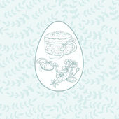 Delicate Easter card — Stock Vector