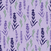 Herbal lavender pattern — Stock Vector