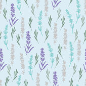 Summer lavender pattern — Stock Vector