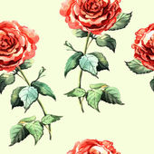 Beautiful watercolor seamless with roses — Stock Photo