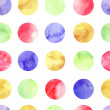 Pattern with watercolor circle — Stockvector