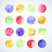 Watercolor circles — Stock Vector