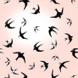 Decorative pattern with swallows — Stock Photo #47557927