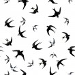 Seamless with swallows — Stock Photo #47558029
