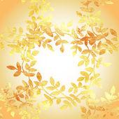 Padrão ouro com delicadas folhas aquarela. — Vetor de Stock