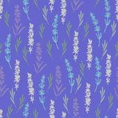 Summer lilac lavender pattern. — Stock Vector
