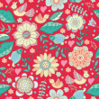 Vintage floral pattern — Stock Vector #48216181
