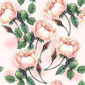 Pattern with roses — Stock Photo