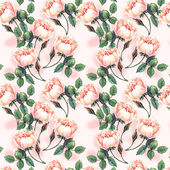 Watercolor pattern with roses — 图库照片