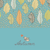 Autumn funny background — Stock Vector