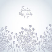 Wedding background with delicate poppies — ストックベクタ