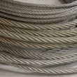 Stok fotoğraf: Detail of galvanized wire rope