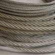 Foto Stock: Detail of galvanized wire rope