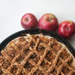 Stock Photo: Freshly baked apple pie with apples