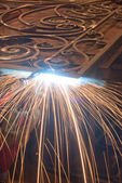 Welding metal. Production and construction — Stock Photo