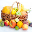 Assortment of exotic fruit — Stock Photo