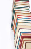 Book heap isolated on white — Foto Stock