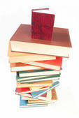 Book heap isolated on white — Stock Photo