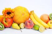 Assortment of exotic fruit — Stock Photo