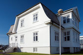 冰岛-雷克雅未克 hofdi 房子 — 图库照片