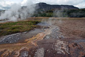 Iceland - The Golden Circle - Geysir area in Haukadalur — Stock Photo