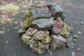 Iceland - Southern Iceland - Stone pile in the Eldgja — Stock Photo