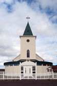 Iceland - The North East - Church of Reykjahl� — Foto Stock
