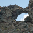 Iceland - The Northeast - Dimmuborgum at Lake Myvatn in Reykjahl� — Foto Stock