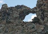 Iceland - The Northeast - Dimmuborgum at Lake Myvatn in Reykjahl� — Stock Photo