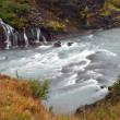 Iceland - The West - Hraunfossar — Stock Photo