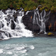 Iceland - The West - Hraunfossar — Stock Photo