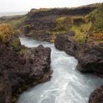 Iceland - The West - Hraunfossar and Barnafoss — Stock Photo