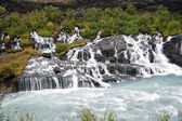 Iceland - The West - Hraunfossar — Stok fotoğraf