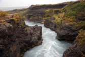 Iceland - The West - Hraunfossar and Barnafoss — Stock Photo