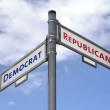 Democrats and Republicans choice - Stockfoto