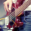 Musicial playing guitar - Stock Photo