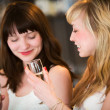 Girls drinking wine - Foto Stock