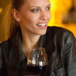 Woman with wine - Stock Photo