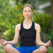 Woman doing yoga - Foto Stock
