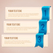Set of 3 option banners with blue ribbon - Stock Vector