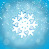 Snowflake and snow — Stock Photo