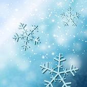 Falling snowflakes — Stock Photo
