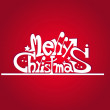 Merry xmas text isolated in red background — Stock Vector