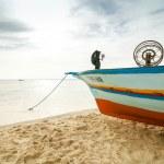 Fishing boat in the Mediterranean sea — Stock Photo