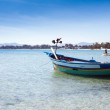 Traditional colorful fishing boat in the Mediterranean sea — Stock Photo