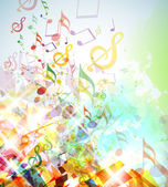 Abstract Shattered Music Notes Background — Stock Photo