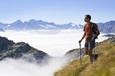 Trekking in the Alps — Stock Photo
