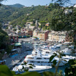 Italian riviera, aerial view of Portofino Italy — Stock Photo #18313981